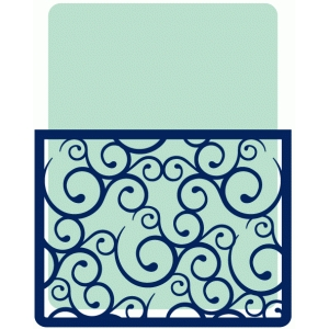 journaling card with fancy swirl pocket
