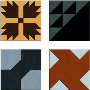 quilt blocks 1 - set of 4