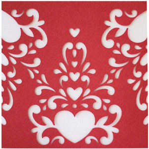 5x5 hearts flourish card