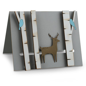 a2 deer in the woods motion card