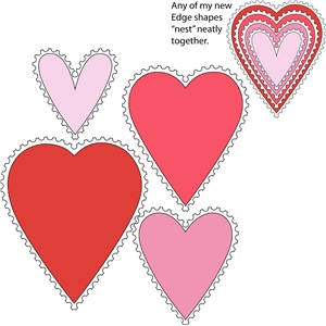 8 piece stamp edge heart set 2