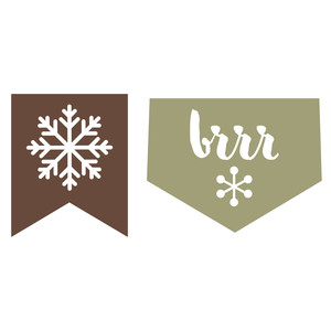 snowflake and brr pennants
