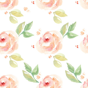 cute watercolor flower pattern