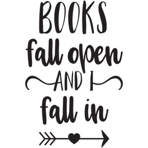 books fall open i fall in