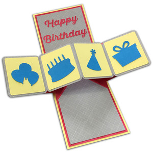 twist pop-up birthday card