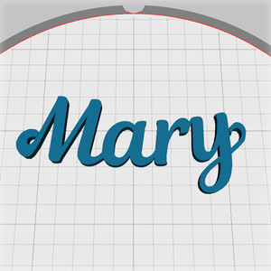 mary name pendant