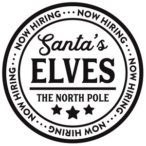 now hiring santa's elves
