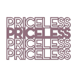 'priceless' outline words