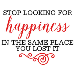 stop looking for happiness quote