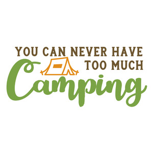 never too much camping