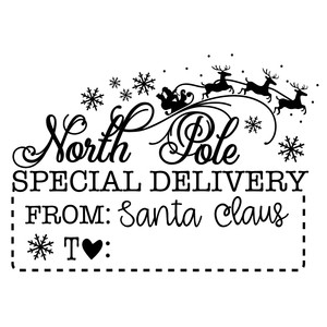 north pole special delivery sign