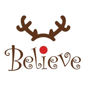believe christmas word