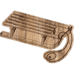 woodgrain sled