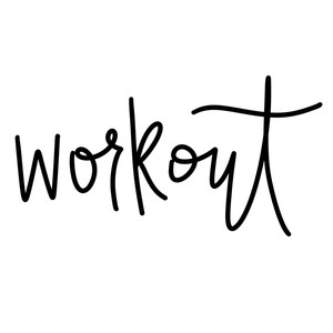 workout word art