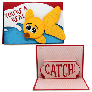 real catch pop-up card