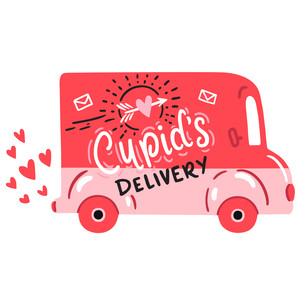 cupid's mail delivery van