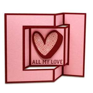 all my love fancy fold card