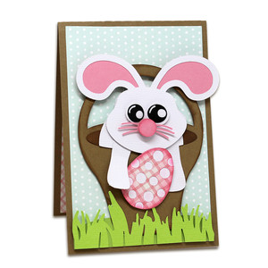 happy easter twist pop card