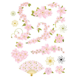 pale pink cherry blossom planner stickers
