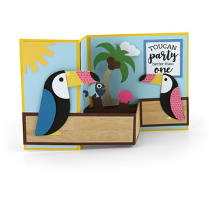 pop up box card toucan