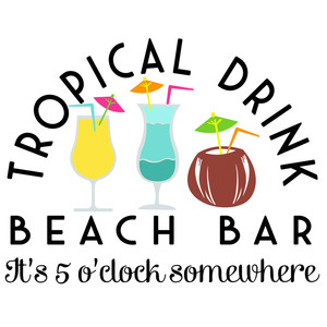 tropical drink beach bar