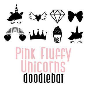 pink fluffy unicorns doodlebat