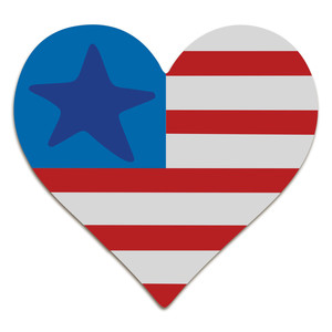 flag with single heart