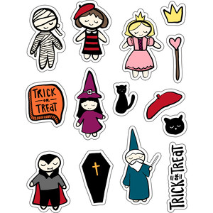 ml little trick or treaters stickers