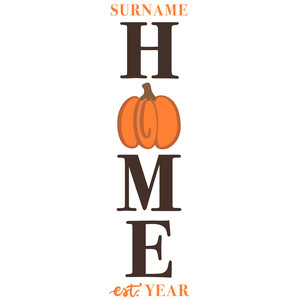 home pumpkin porch sign