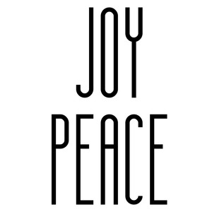 joy peace ornament words