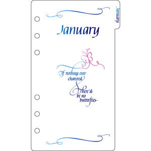 elegant planner a6 binder january divider