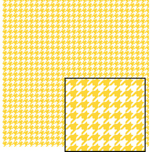 yellow and white houndstooth