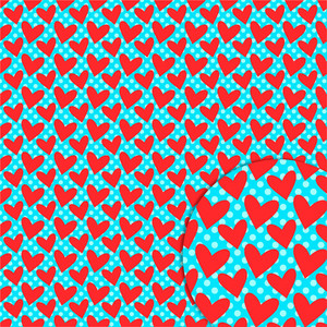 heart dots pattern