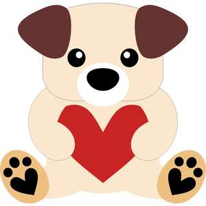 little dog and heart