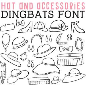 cg hats and accessories dingbats