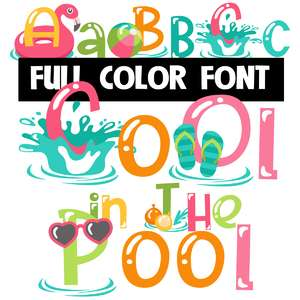 cool in the pool color font