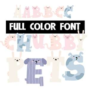 chubby pets color font