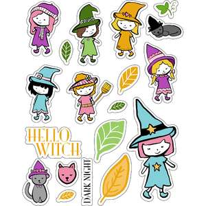 ml hello witch stickers