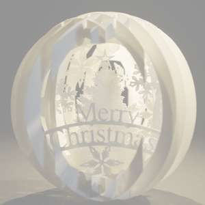 four layered pop up sphere merry christmas