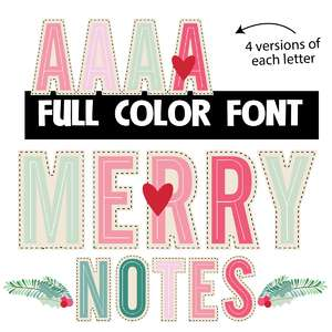merry notes color font