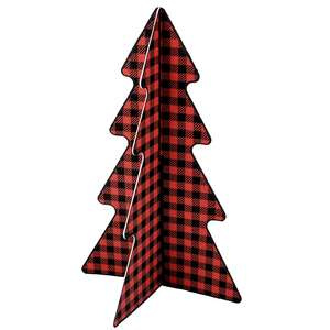 3d buffalo plaid christmas tree