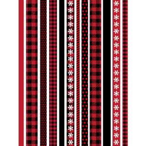 buffalo plaid washi borders planner stickers