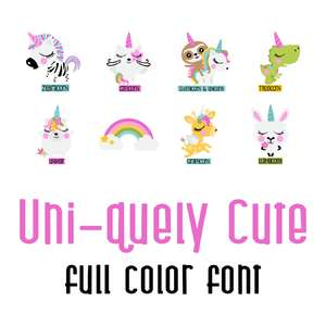 uni-quely cute full color font