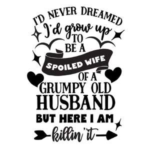 i'never dreamed i would grow up to be a spoiled wife