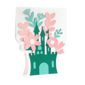 flower castle card
