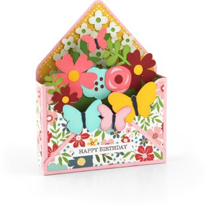 box card envelope butterflies