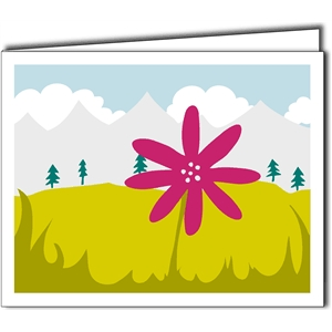 mountain scenery card
