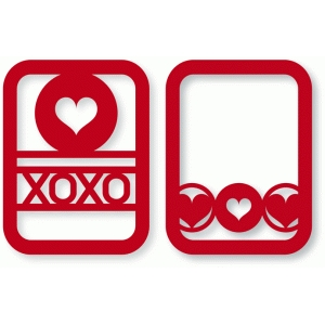 xoxo hearts & circles cards
