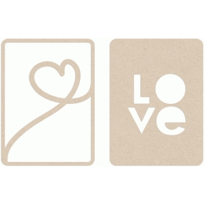 album card overlays - love