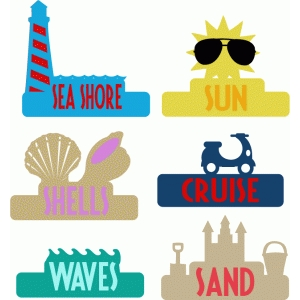 beach labels & tabs